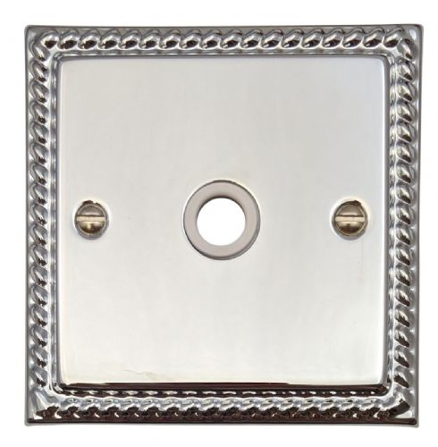 G&H MC79W Monarch Roped Polished Chrome 1 Gang Flex Outlet Plate